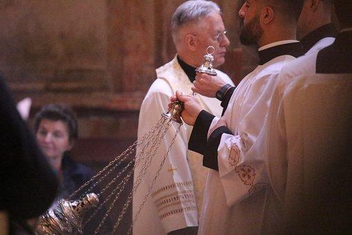 Men, Church, Ceremony, Religion, Holy, Priest