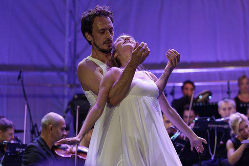 Ballet Flats, Show, In The Evening, Ballerina, Woman