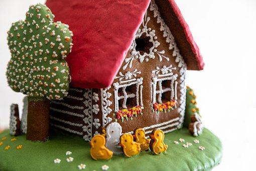 Hansel And Gretel, Sweetness, Decoration, Home, Kačičky