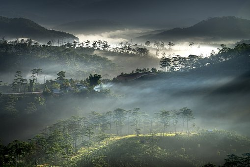 Clouds, Dawn, Vietnam, Fanciful, To Design, Natural