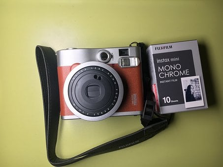 Instax, Fujifilm, Camera, Lens, Photo, Digital, Retro