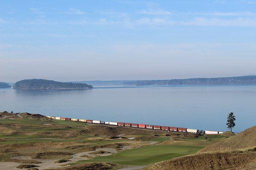 Travel, Train, Golf, Sea, Tacoma, Washington, Railroad