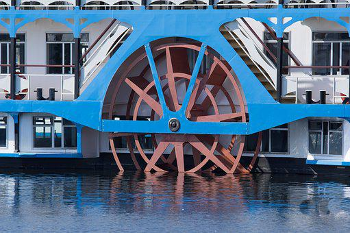 Paddle Wheel, Paddle Steamer, Paddle Steamers, Retro