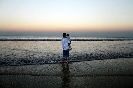 Sea, Sand, Cox's Bazar, Bangladesh, Sky, Sun, Blue