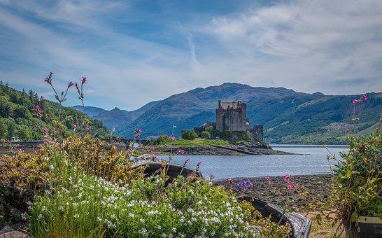 Eilean Donan Castle, Castle, Ruin, Scotland, Landscape