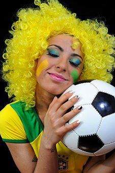 Soccer, Brazil, Football, Sport, Fan, Happy