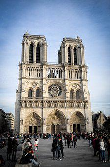 Notre Dame, Paris, France, Church, Dom, Architecture