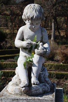 Statue, Amor, The Love Of God, Arrow, Marble, Art