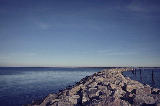 Baltic Sea, Stone, Water, Stones, Coast, Landscape