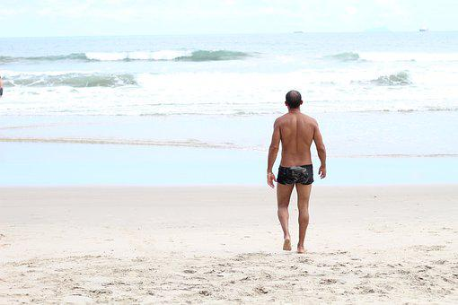 Man, Mar, Walking, People, Ocean, Love, Woman, Beach
