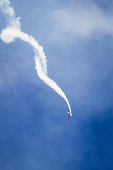 Smoke, Airplane, Sky, Flying, Aircraft, Air, Blue