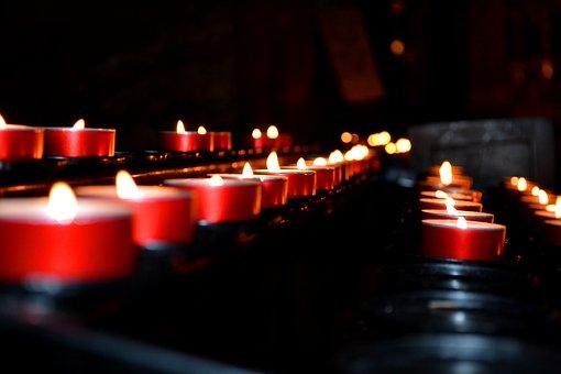 Church, Tea Lights, Candles, Religion, Light, Tealight