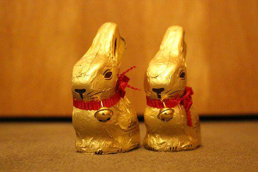 Easter, Lindt, Candy, Chocolate, Cute, Nibble, Bell