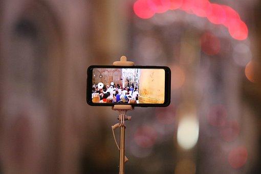 Cellular Phone, Church, Ceremony, Religion, Faith