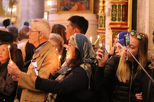 Church, Ceremony, Cellular Phones, Recording, Religion