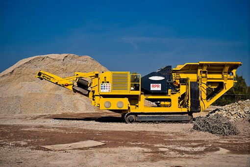 Construction, Construction Machine, Crusher, Site