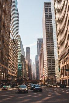 Chicago, City, Cars, Urban, Skyline, Downtown