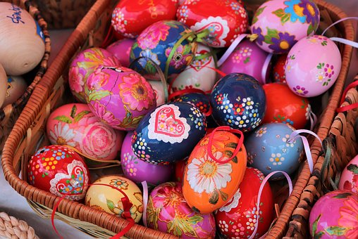 Basket, Easter Eggs, Colorful, Decoration, Holiday