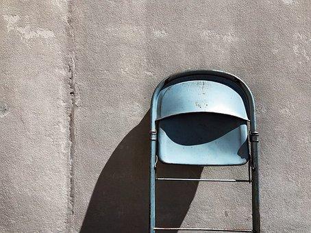 Chair, Metal, Folding, Furniture, Seat
