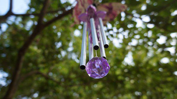 Wind Chimes, Garden Decor, Decorative, Hanging, Chimes