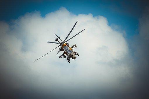 Helicopter, Blue, Turkey, Istanbul, Adobe, Photoshop