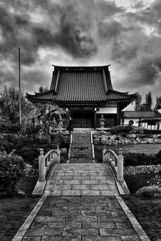 Temple, Japan, Eko, House, Düsseldorf, Japanese