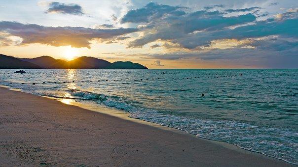 Sunset, Mountains, Nikon, Nature, Landscape, Seascape