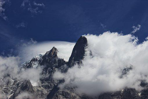 Chamonix, Lesdrus, Aiguilleverte, Cloud, Mountain