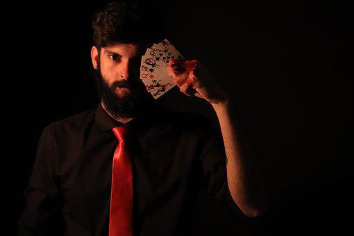 Magician, Letters, Magic, Top Hat, Poker, Hand