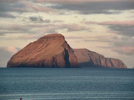 Faroe, Island, Koltur, Sea, Atlantic, Ocean, Twilight