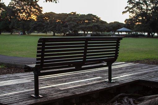 Bench, Park, Sunset, Wood, Seat, Outdoors, Nature