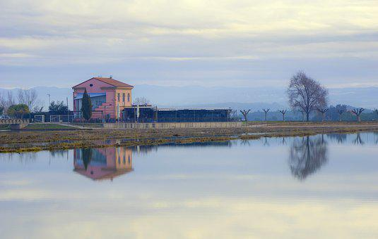 Landscape, Lake, Parc De L'agulla, Nature, Reflection