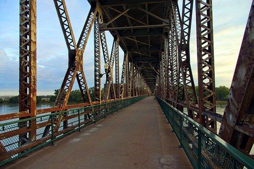 Meridian Highway Bridge, Bridge, Road, Pedestrian