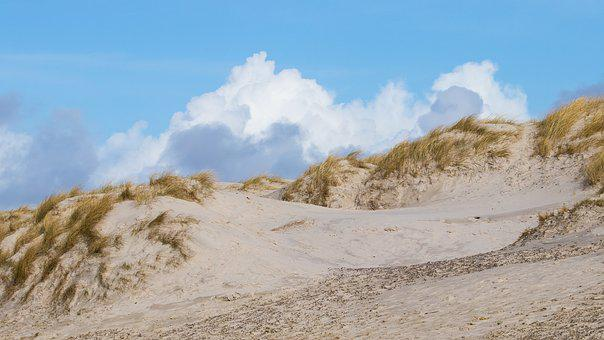 Sand, Beach, Dune, Sky, Clouds, The North Sea