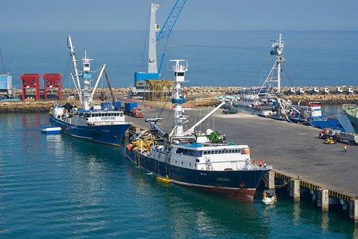 Boats, Port, Water, Sea, Sky, Harbor, Coast, Ship, Blue