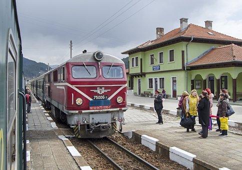 Train, Train Station, Narrow Gauge Railway, Station