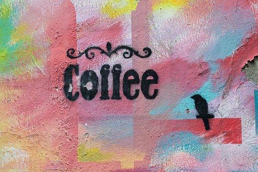 Coffee, Graffiti, Pattern, Article, Wall, Texture