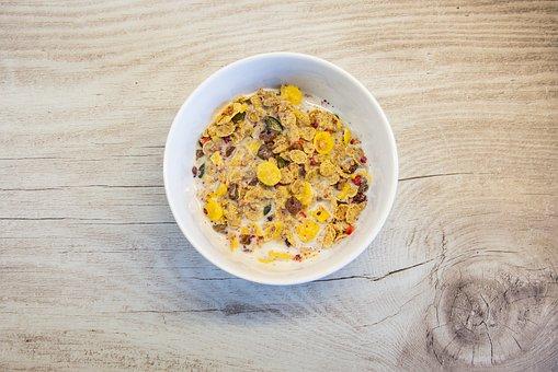 Muesli, Breakfast, Wooden Table, Healthy, Food, Bowl