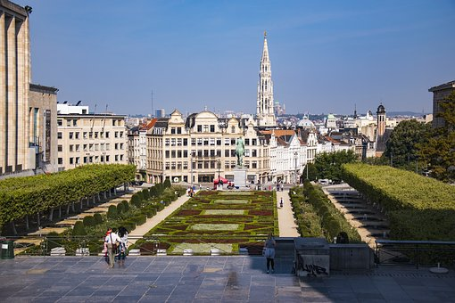 Mont Des Arts, Town Hall, Brussels, Albert L, 1955