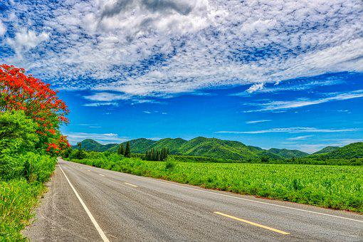Road, Nature, Landscape, Asphalt, Away, Thailand