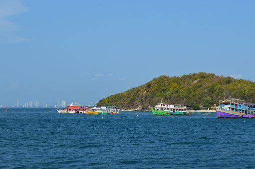 Pattaya, Bay, Pier, Quay, Resort, Thailand, Tourism