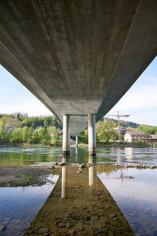 Switzerland, Aargau, Brugg, City, Aare, River, Water