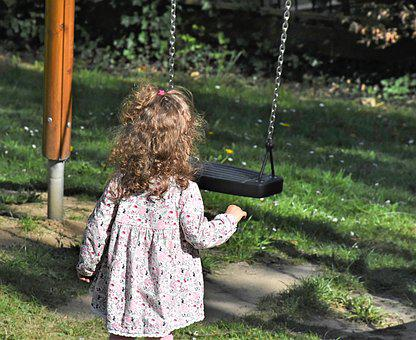 Girl, Child, Play, Swing, Rock, Childhood, Happy, Joy