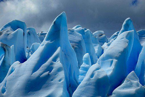 Chile, Patagonia, Lago Grey, Glacier, Ice