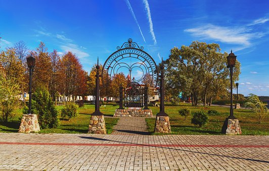 Sebezh, City Sketches, Landscape, City, Autumn, Beauty