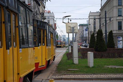 Tram, City, The Centre Of, Street, Transport, Travel