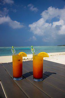 Cold Drinks, Glass, Cocktails, Beach, Cocktail, Alcohol