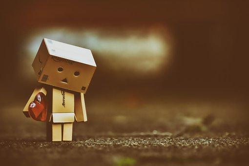 Sad, Longing, Love, Danbo, Danboard, Figure, Cute
