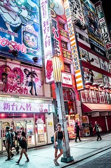 Japan, Asia, Neon, Streetm City, Travel, Architecture