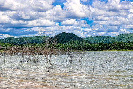 Cloudiness, Mountain, Thailand, Lake, Landscape